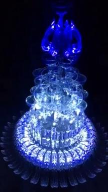 Tháp Ly Champagne Kiểu Mới